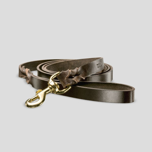 Sulo leather leash, dark brown