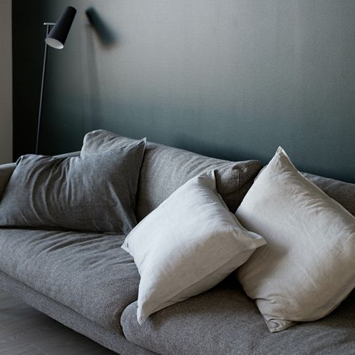 Black Linen pillow cover